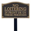 No Loitering GardenBoss™ Statement Plaque With Stake