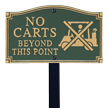 No Carts Statement Lawn Plaque