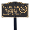 Smoke Free Property Statement Lawn Plaque