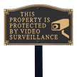 Video Surveillance Statement Lawn Plaque