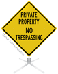 Private Property No Trespassing Roll-Up Sign