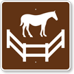 Corral, MUTCD Guide Sign for Campground