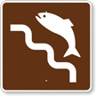 Fish Ladder, MUTCD Guide Sign for Campground