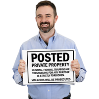Private PropertyPosted SignBook™