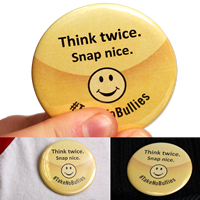 Think Twice Snap Nice No Bullying Button