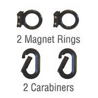 2Magnet Rings 2 Carabiners