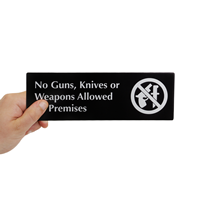 No Guns Knives Weapons Signs