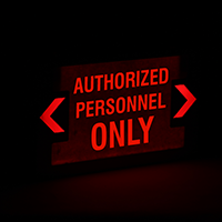 Authorized Personnel Only LED Exit Sign With Punch-Out Arrows