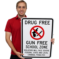 Gun Free School Zone Sign