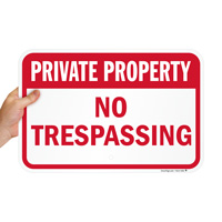 Private Property No Trespassing Signs (Red)