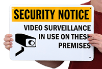 Security Notice Video Surveillance Security Signs