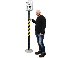 Yellow/Black Reflective Sign Posts