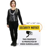 Video Surveillance Aluminum Sign