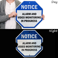 Alarm And Video Monitoring In Progress,Video Surveillance Sign