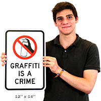 Graffiti Is A Crime Signs