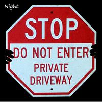 Do Not Enter Stop Reflective Sign