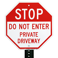 Do Not Enter Private Driveway Sign