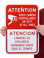 Attention - Video Camera Surveillance On Duty Security Sign