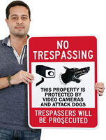 No Trespassing Sign,Security Sign