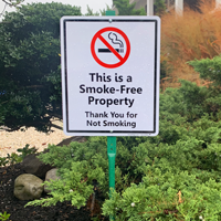 No smoking sign for property