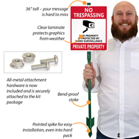 Video Surveillance LawnBoss® Sign & Stake Kit,Security Sign