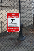 No Trespassing & Video Surveillance Signs (with Graphic)
