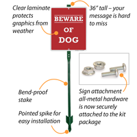 Beware Of Dog LawnBoss™ Signs