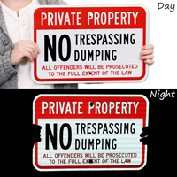 Private Property No Trespassing, No Dumping Signs