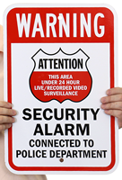 24 Hour Live/Recorded Video Surveillance Signs