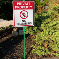 Private property not trespassing signs for home