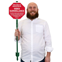 Video surveillance signs for yard