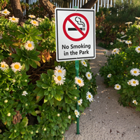 No Smoking In The Park Sign