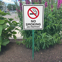 No Smoking On Premises Sign