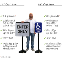17' dia. Cast Iron Stand with a 48' tall post For Parking
