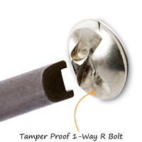 For Removal of Tamper-Proof Mounting Hardware