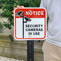 Security camera sign for outside