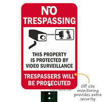 This Property Is Protected By Video Surveillance Signs
