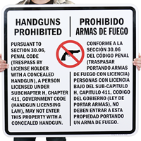 Section 30.6 Texas Law - Concealed Handguns Prohibited Signs