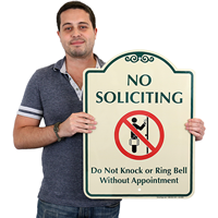No Soliciting Do Not Knock Signsature Signs