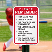 Please Remember Baseball Rules Signs