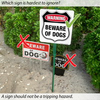 Beware of dogs signs