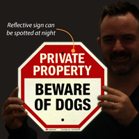 Beware Of Dogs Private Property Sign