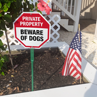 No trespassign sign for the the front of the house