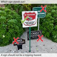 No Trespassing Video Surveillance LawnBoss Sign