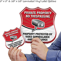 Private Property No Trespassing Shield Sign