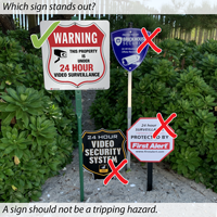 Property under 24 hour surveillance signs