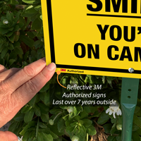 3M authorized smile you're on camera sign