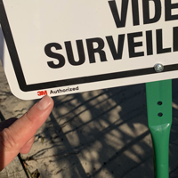 Property Protected By Video Surveillance LawnBoss Sign