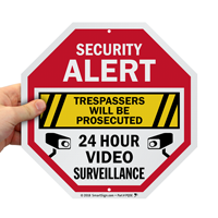 Trespassers Will Be Prosecuted Video Surveillance Sign