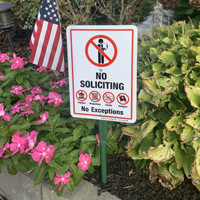 No soliciting sign for front yard